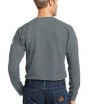 Bulwark iQ Long Sleeve Tee Charcoal Back View