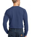 Bulwark iQ Long Sleeve Tee Dark Blue Back View