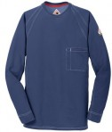 Bulwark iQ Long Sleeve Tee Dark Blue Full View