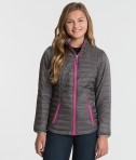 Cahrles River Apparel 5640 Women's-Lithium Quilted Jacket Grey Pink