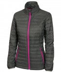 Cahrles River Apparel 5640 Women's-Lithium Quilted Jacket Grey Pink Full view