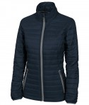 Cahrles River Apparel 5640 Women's-Lithium Quilted Jacket Navy Grey Full View