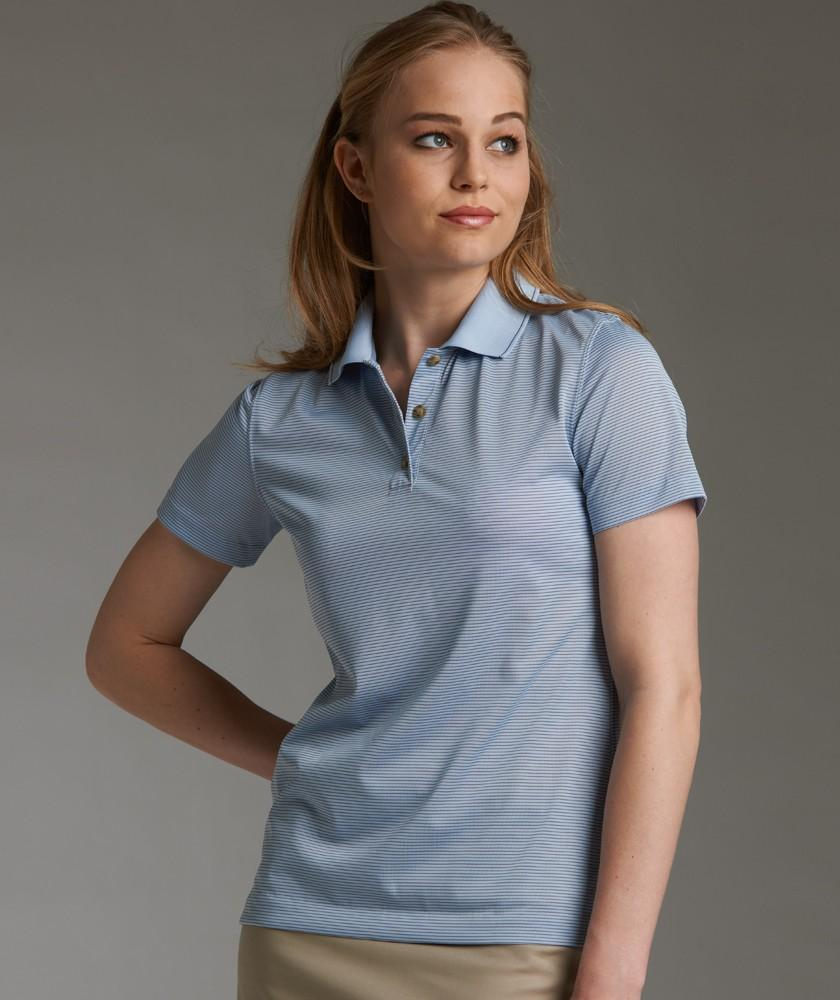 Charles River Apparel Style 2160 Women's MicroStripe Polo 1