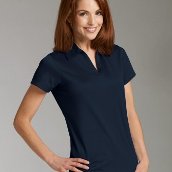Charles River Apparel Style 2213 Women's Smooth Knit Solid Wicking Polo Navy