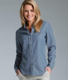 Charles River Apparel Style 2327 Women's Button Down Collar Chambray Shirt