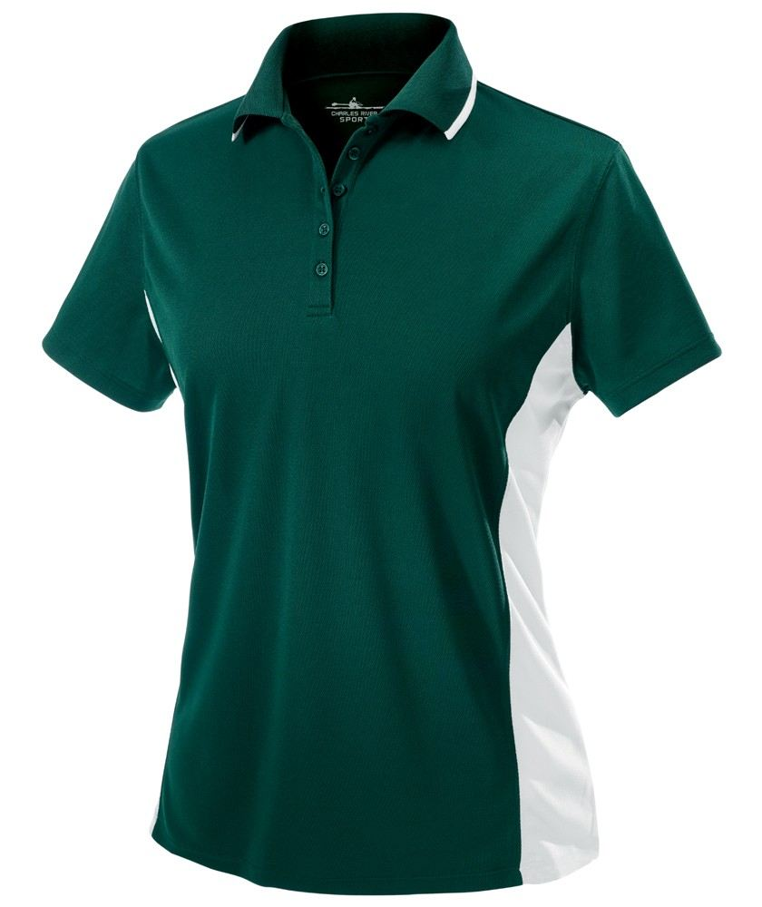 Charles River Apparel Style 2810 Women's Color Blocked Wicking Polo