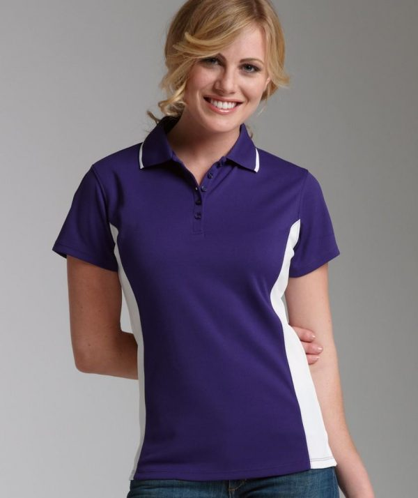 Charles River Apparel Style 2810 Women's Color Blocked Wicking Polo Lavender