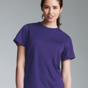 Charles River Apparel Style 2830 Women's Pique Wicking Tee Purple