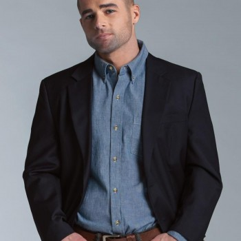 Charles River Apparel Style 3327 Men's Button Down Collar Chambray Shirt