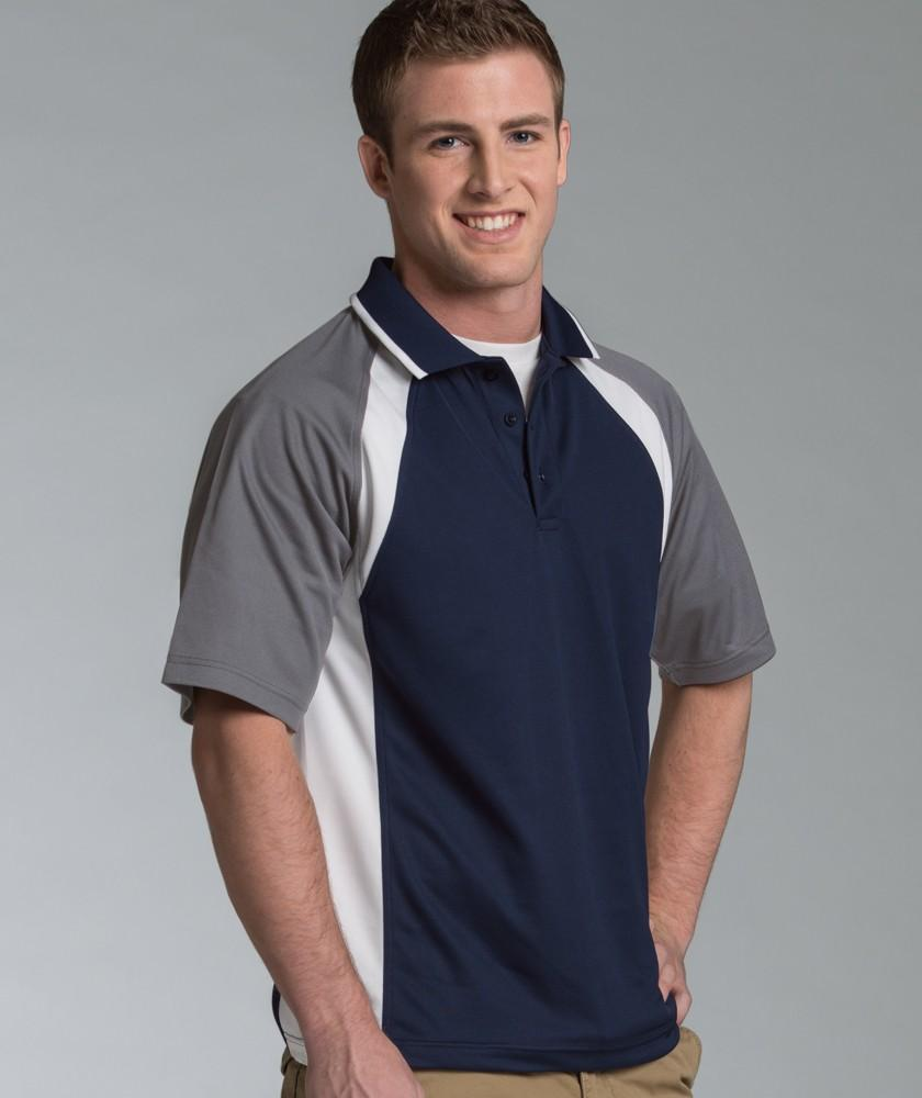 Charles River Apparel Style 3425 Men's Ares Button Polo 1