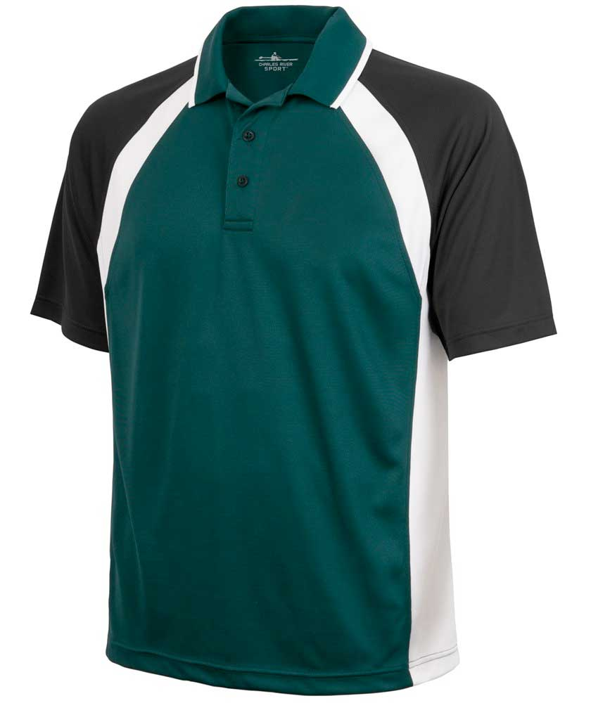 Charles River Apparel Style 3425 Men's Ares Button Polo