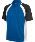 Charles River Apparel 3425 Mens Ares Button Up Polo Shirt Royal Black White