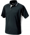 Charles River Apparel 3810 Mens Color Block Wicking Polo Shirt Black and White