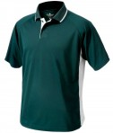 Charles River Apparel 3810 Mens Color Block Wicking Polo Shirt Forest and White