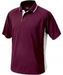 Charles River Apparel 3810 Mens Color Block Wicking Polo Shirt Maroon and White