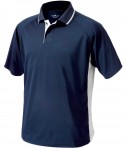 Charles River Apparel 3810 Mens Color Block Wicking Polo Shirt Navy and White