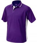 Charles River Apparel 3810 Mens Color Block Wicking Polo Shirt Purple and White