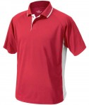 Charles River Apparel 3810 Mens Color Block Wicking Polo Shirt Red and White