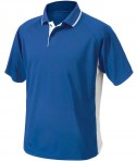 Charles River Apparel 3810 Mens Color Block Wicking Polo Shirt Royal and White