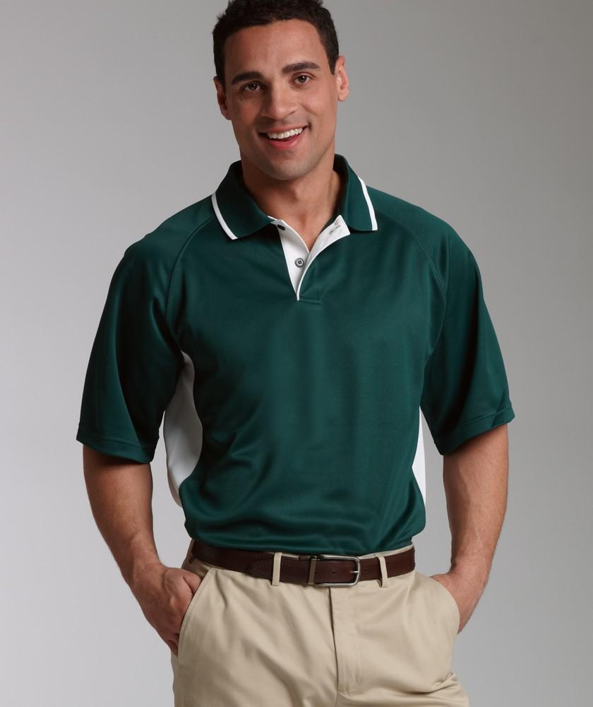 Charles River Apparel Style 3810 Men's Color Blocked Wicking Polo 1