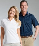 Charles River Apparel 3811 Mens Classic Wicking Polo Shirt White Matching His Hers