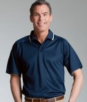 Charles River Apparel 3811 Mens Classic Wicking Polo Shirt White Navy