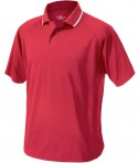 Charles River Apparel 3811 Mens Classic Wicking Polo Shirt Red