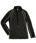 Charles River Apparel 4984 Girls Olympian Jacket Black White