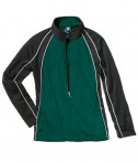 Charles River Apparel 4984 Girls Olympian Jacket Forest White Black