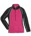 Charles River Apparel 4984 Girls Olympian Jacket Fuchsia White Black