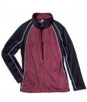 Charles River Apparel 4984 Girls Olympian Jacket Maroon White Black