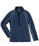 Charles River Apparel 4984 Girls Olympian Jacket Navy White