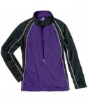 Charles River Apparel 4984 Girls Olympian Jacket Purple White Black