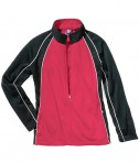 Charles River Apparel 4984 Girls Olympian Jacket Red White Black