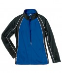 Charles River Apparel 4984 Girls Olympian Jacket Royal White Black
