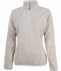 Charles River Apparel 5312 Women's Heathered Fleece Pullover Sweater - Oatmeal Heather