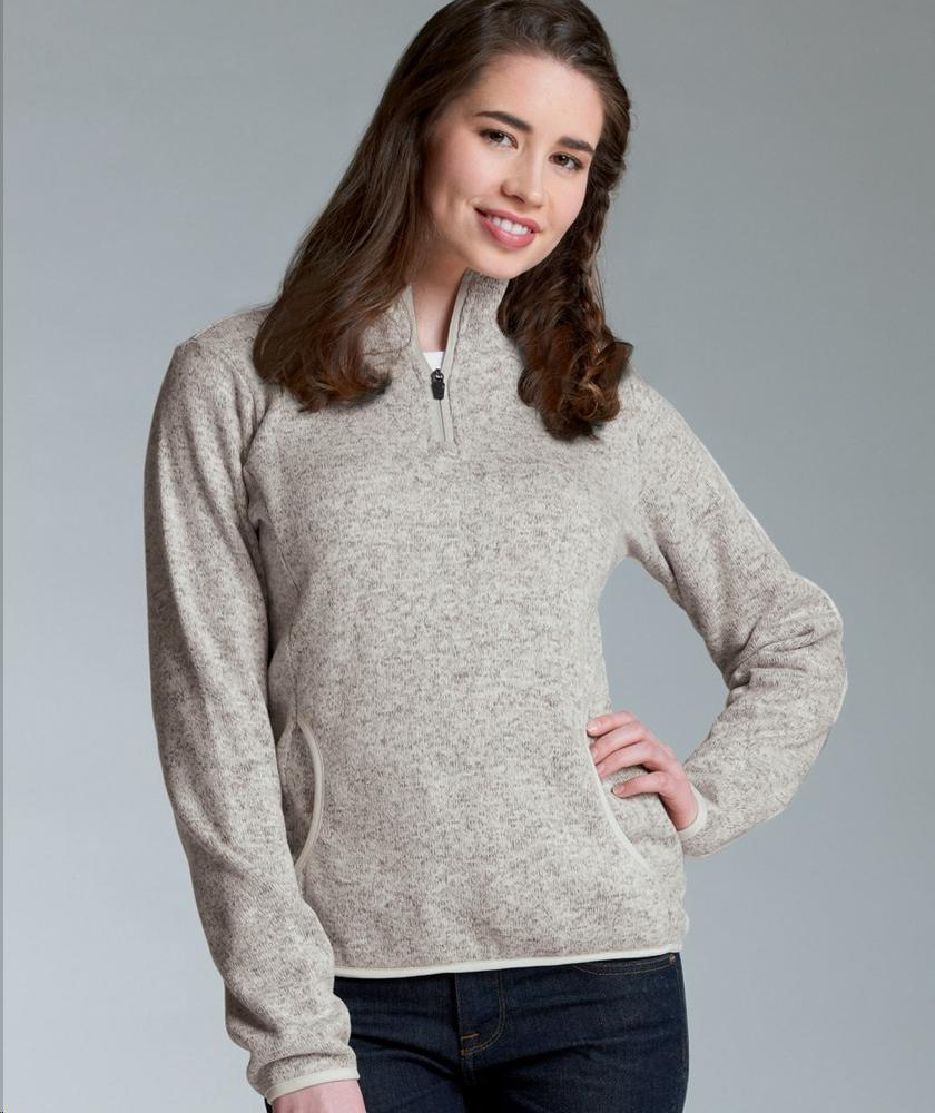 Charles River Apparel Style 5312 Women's Heathered Fleece Pullover 1