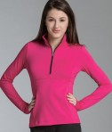 Charles River Apparel 5460 Women's Fitness Pullover Top - Fuchsia Model