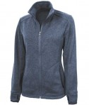 Charles River Apparel 5493 Women's Heathered Fleece Jacket - Blue Heather