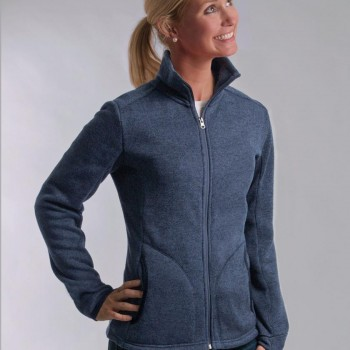 Charles River Apparel Style 5493 Women's Heathered Fleece Jacket 1