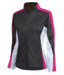 Charles River Apparel 5494 Women's Energy Jacket - Black/Hot Pink/White