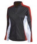 Charles River Apparel 5494 Women's Energy Jacket - Black/Red/White