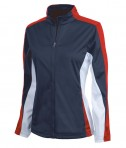 Charles River Apparel 5494 Women's Energy Jacket - Navy/Red/White