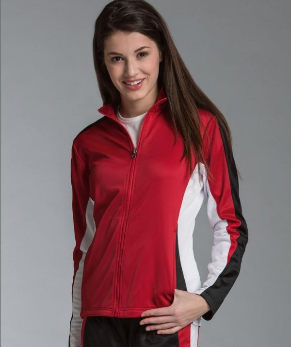 Charles River Apparel Style 5494 Women's Energy Jacket Red/Black/White