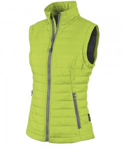 Charles River Apparel 5535 Women's Radius Quilted Vest Lime Grey