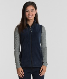 Charles River Apparel 5603 Women's Ridgeline Fleece Vest Navy Black