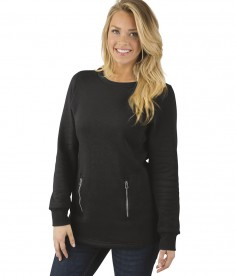 Charles River Apparel 5653 Women's Hampton Sweatshirt Black