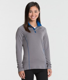 Charles River Apparel 5666 Women's Fusion Pullover Long Sleeve Top Grey Royal