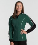Forest Green & Black Charles River Apparel 5673 Women's Rev Jacket
