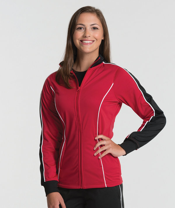 New Red & Black Charles River Apparel 5673 Women's Rev Jacket